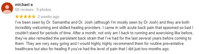 Chiropractic Erie CO Patient Testimonial at Live Your Life Chiropractic